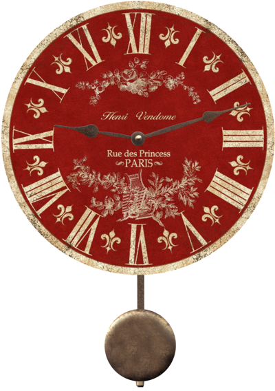 Red Toile Clock Http Www Unique Wall