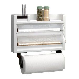 Want This For Inside A Cabinet Chef Buddy The Ultimate Kitchen 3 In 1 Dispenser Paper Towel Holder