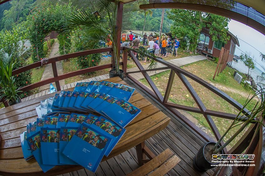We love catering to large groups because the camaraderie is so awesome! Our students have their PADI Open Water books ready at our beach house deck! :)