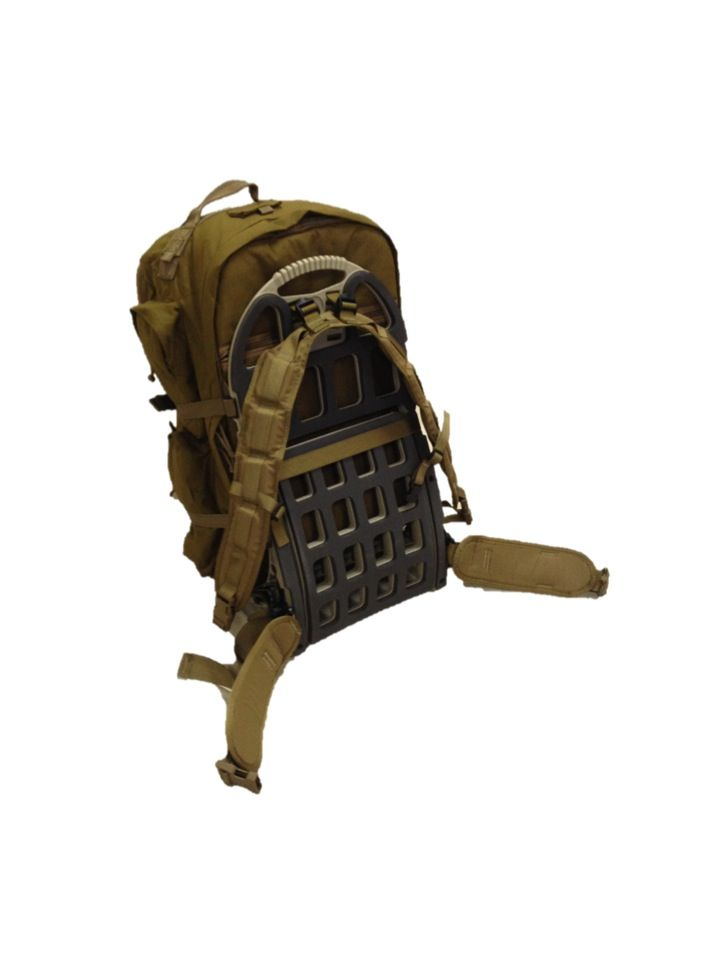 S.O.C. Long Range Bugout Bag mounted to Pack Mule Frame with MILSPEC