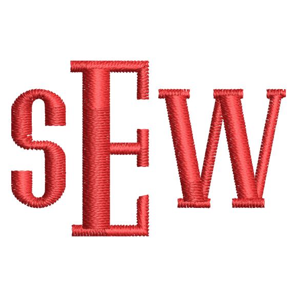 Atticus Monogram Hatch Font in 2020 Embroidery monogram