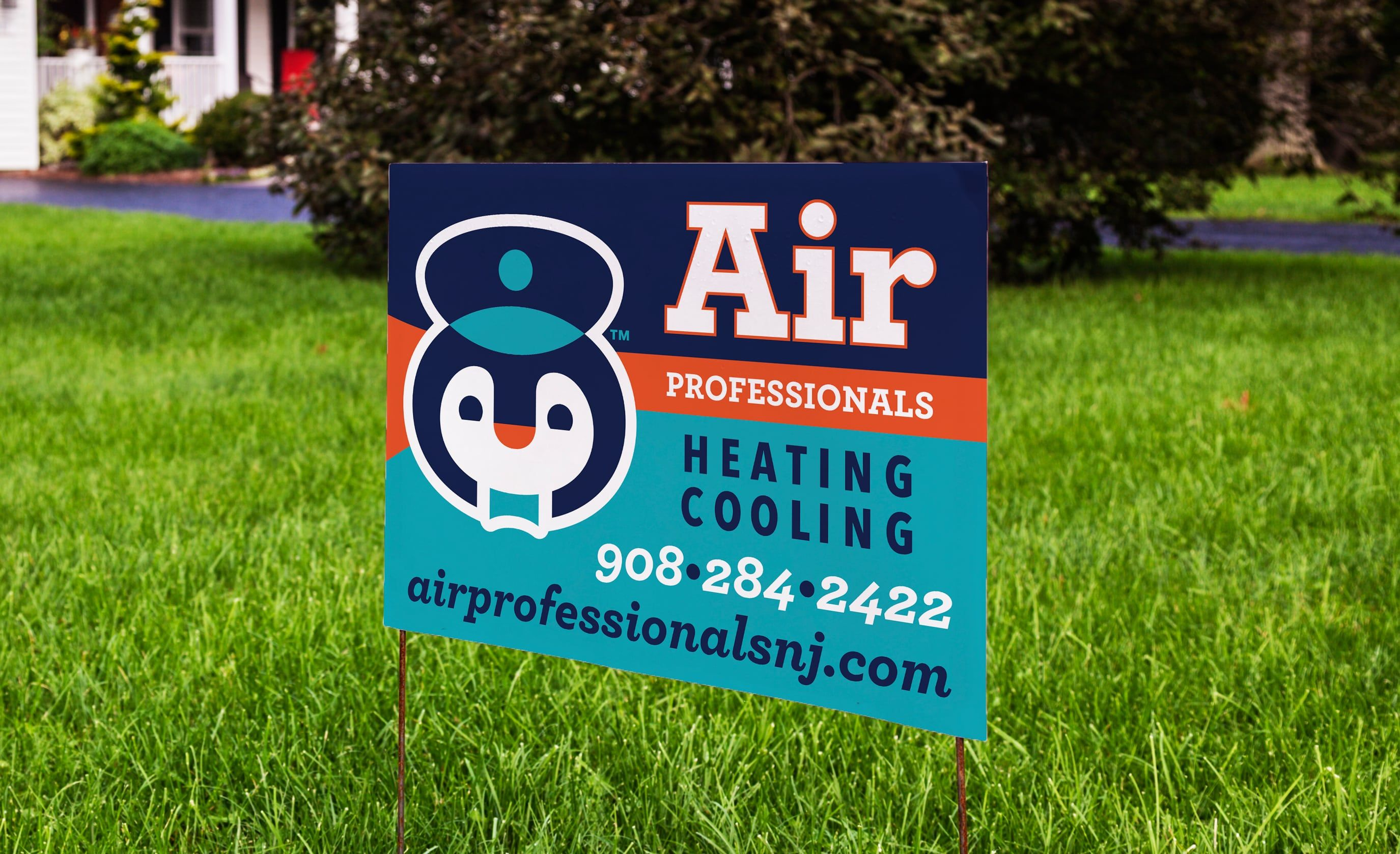 Yard Sign Design For Air Professionals Heating Cooling Nj Advertising Agency