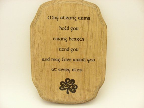 Irish Blessing/Irish Baby Blessing Plaque/Wall Sign/ Home Decoration ...