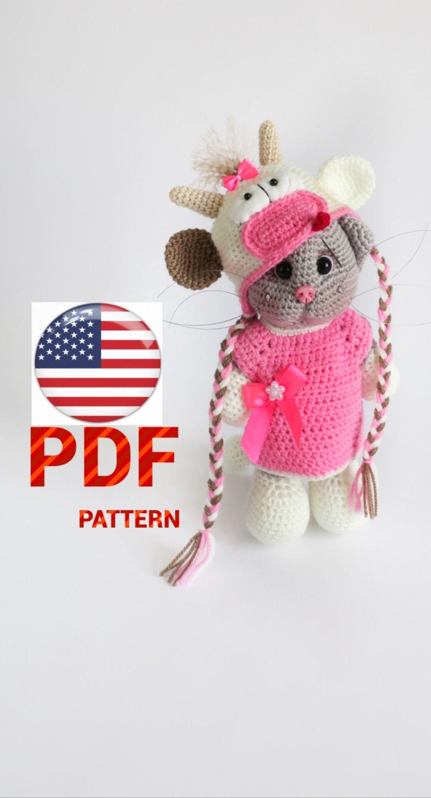 Crochet cat pattern/crochet kitten/digital download