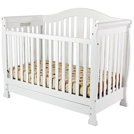 Dream On Me Addison 5 In 1 Convertible Crib With Drawer White Walmart Com Cribs Baby Cribs Convertible Crib