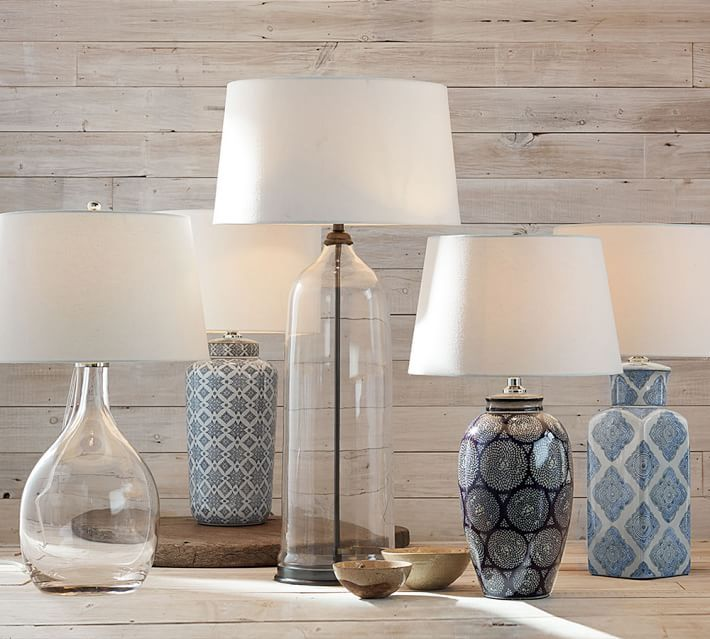 Blue And White Ceramic Lamps White Ceramic Lamps Pottery Barn