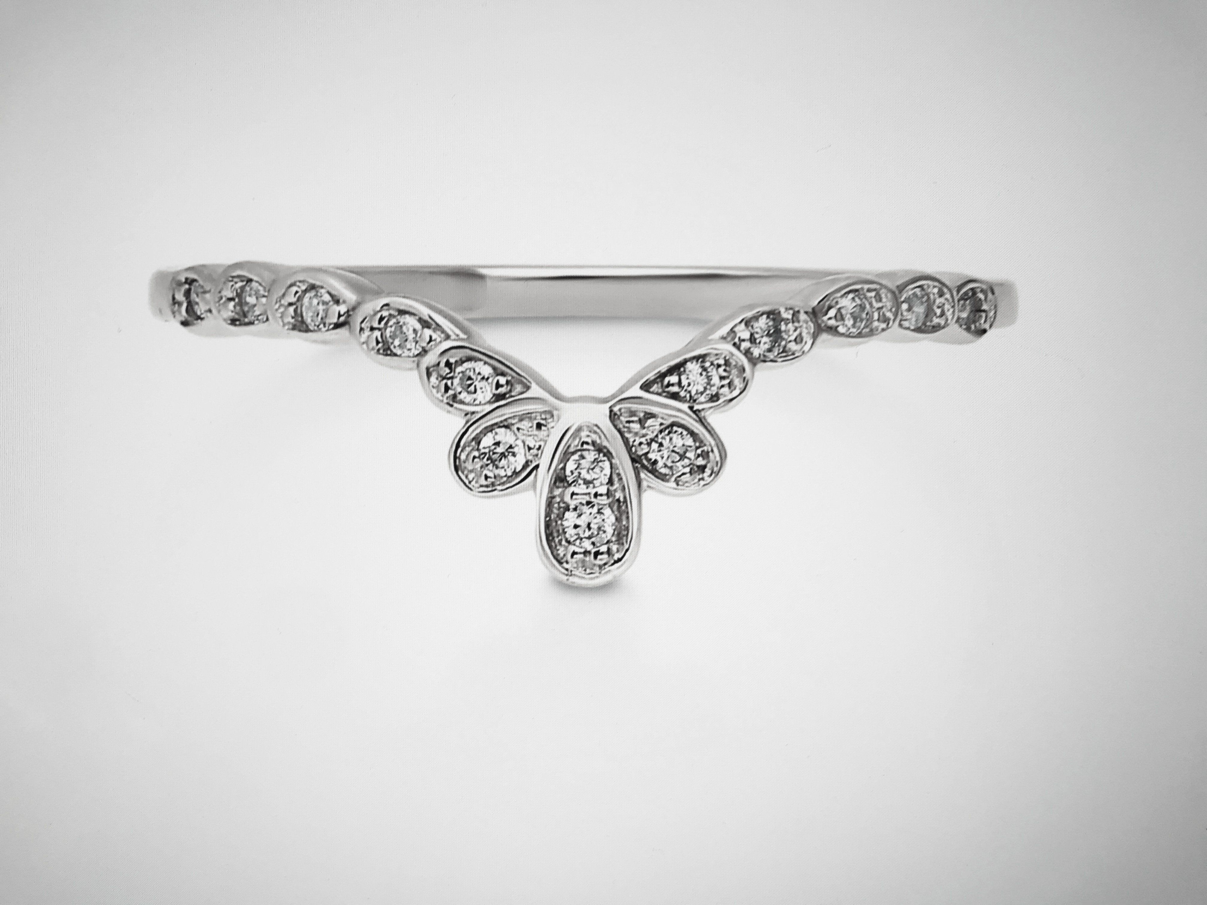The Crown Band, Platinum Russian Lab Diamond Flower Crown
