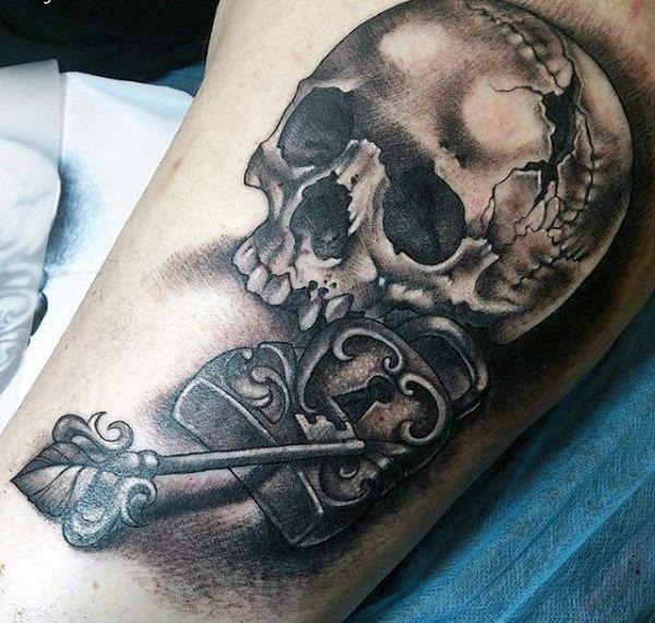 d5ec29451 60 Key Tattoos For Men - Unlock Masculine Design Ideas | tattoos ...