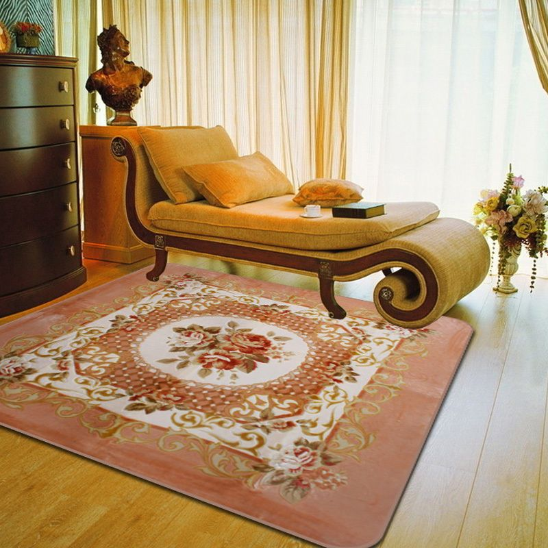 Cheap Mat Machine Buy Quality Home Door Directly From China Music Suppliers Square Retro Rose Pattern Style Velvet Carpet Living Room Bedroom Rugs