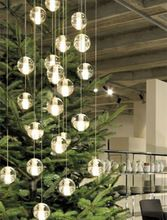 Long Stairway G4 Led Luminaria Professional Lighting Hotel Stair Home Hanging Crystal Ball P Chandelier Ceiling Lights Ball Pendant Lighting Led Pendant Lights