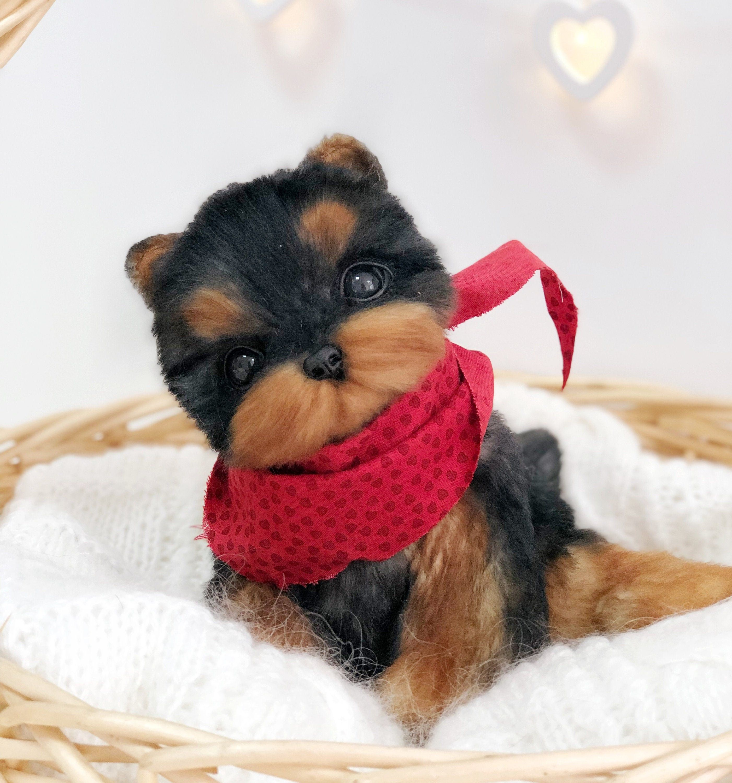 Yorkshire terrier Realistic stuffed dog realistic stuffed