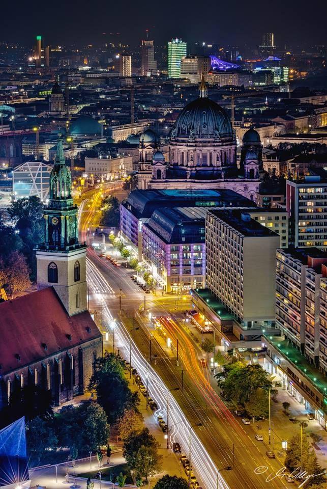 Central Berlin At Night Time Berlin Germany Berlin City Berlin Today