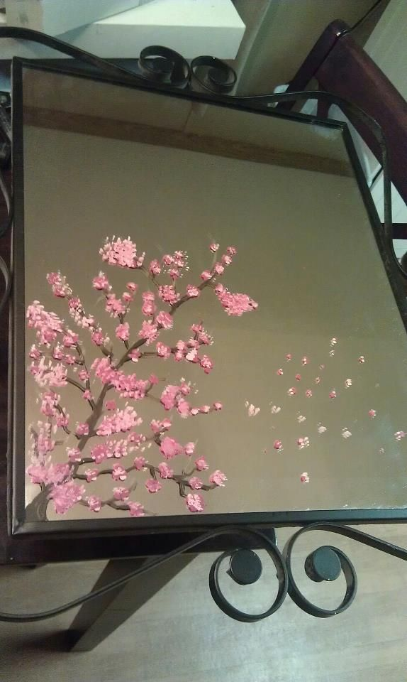 Diy Painted Mirror Mirror Painting Diy Painting Painting Art Projects