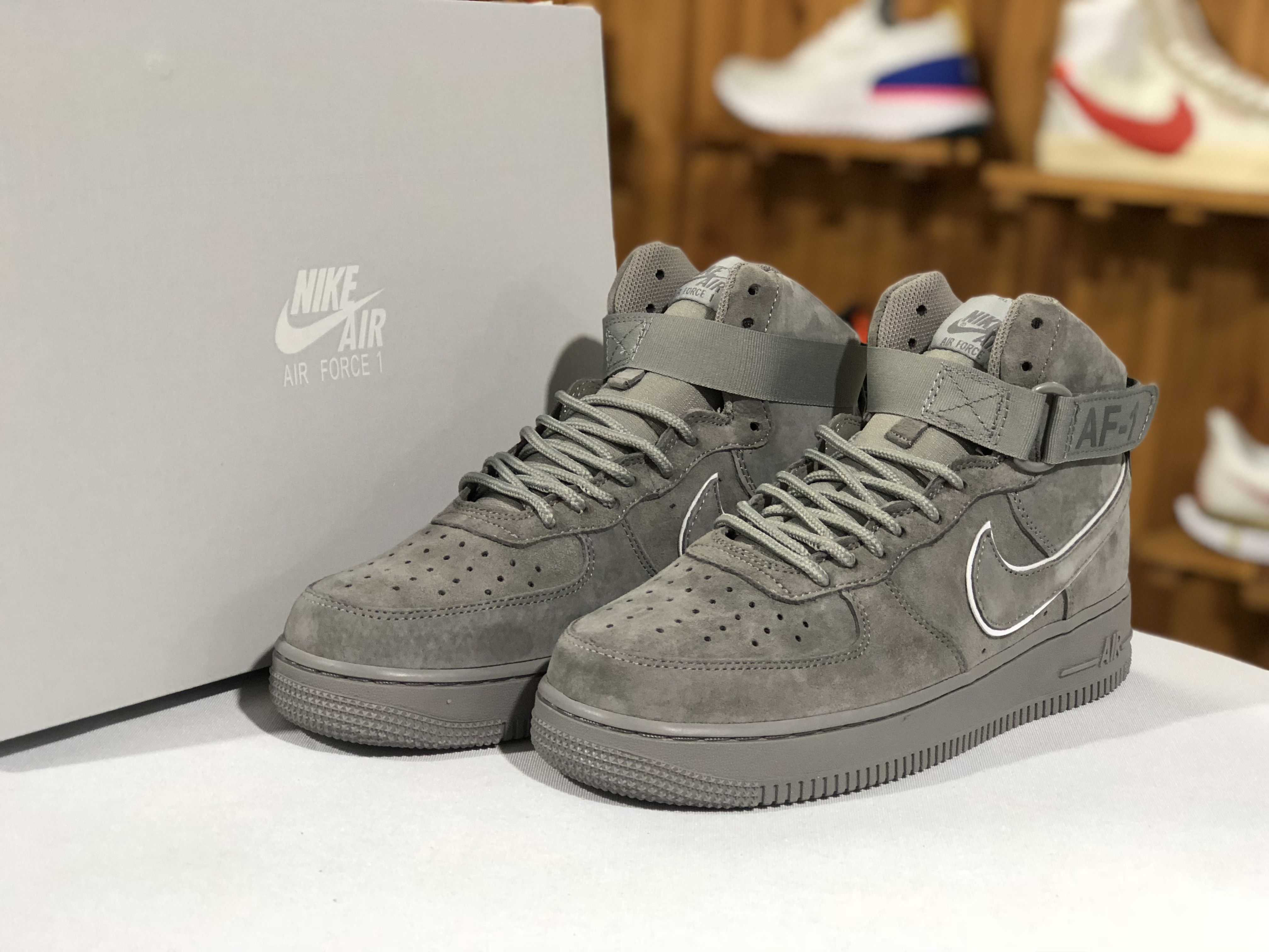 buy popular e75bb ab995 The Nike Air Force 1 High  07 LV8 Suede Grey Singapore