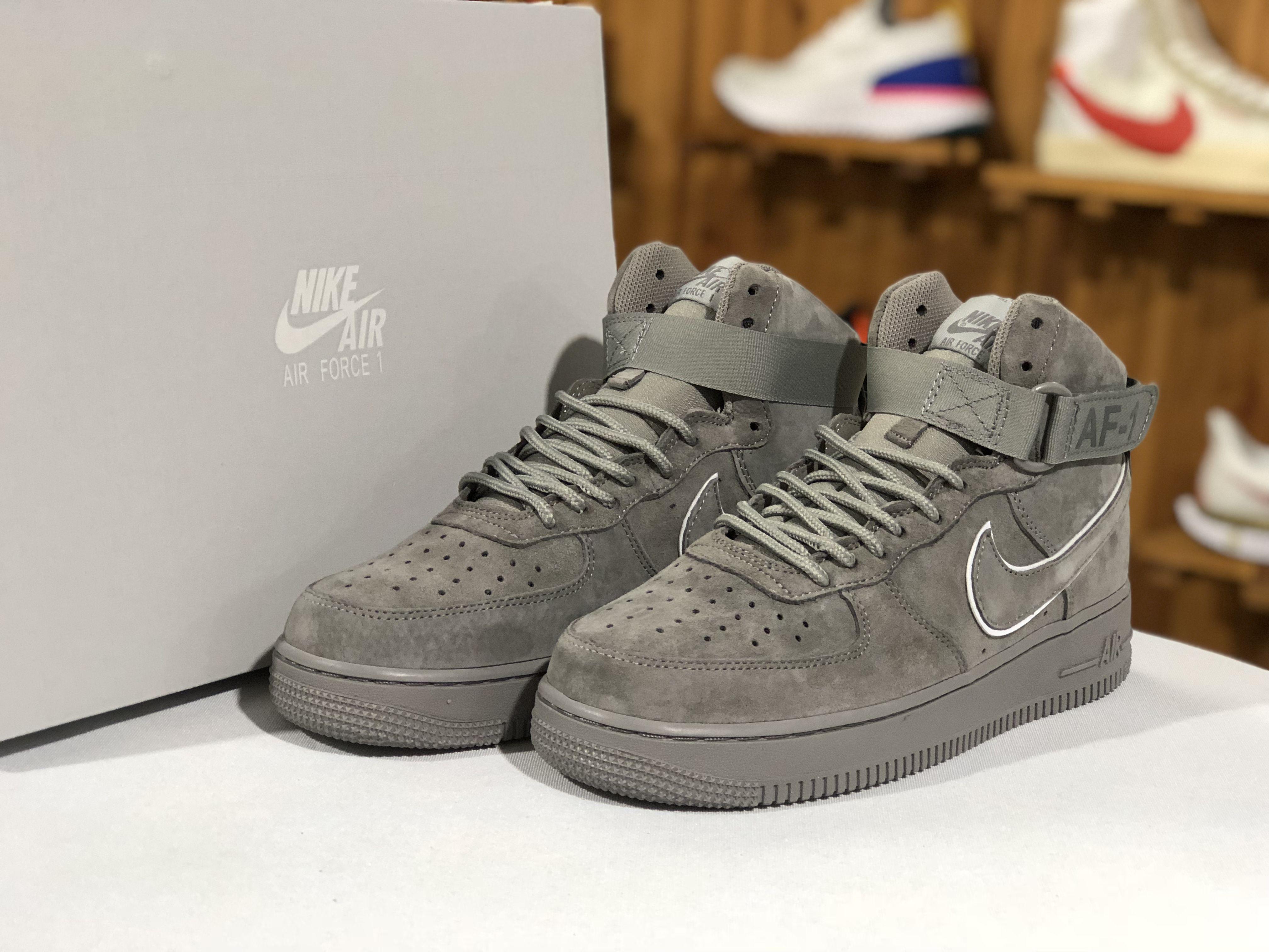 buy popular e9d79 fe4e9 The Nike Air Force 1 High  07 LV8 Suede Grey Singapore