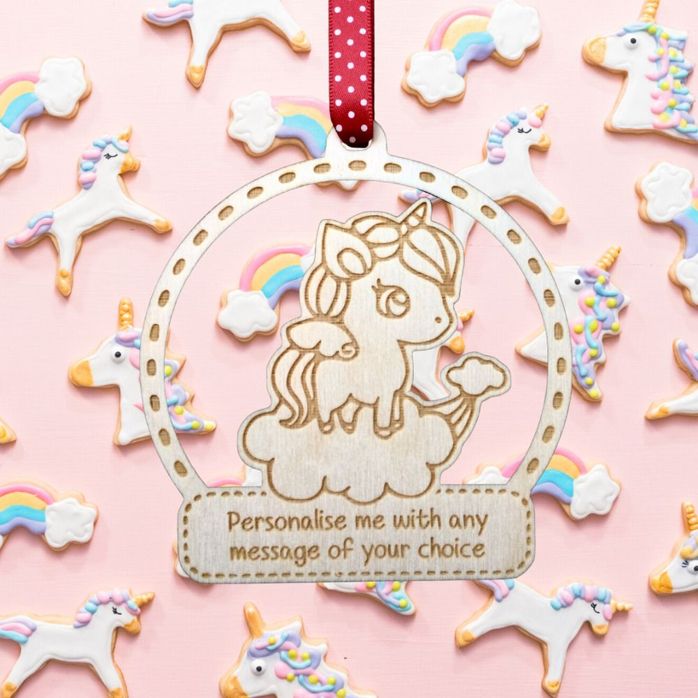 Laser Engraved Personalised Wooden Hanging Plaque Gift
