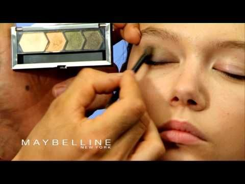Párpados caídos. Look para párpados caídos con Maybelline - YouTube