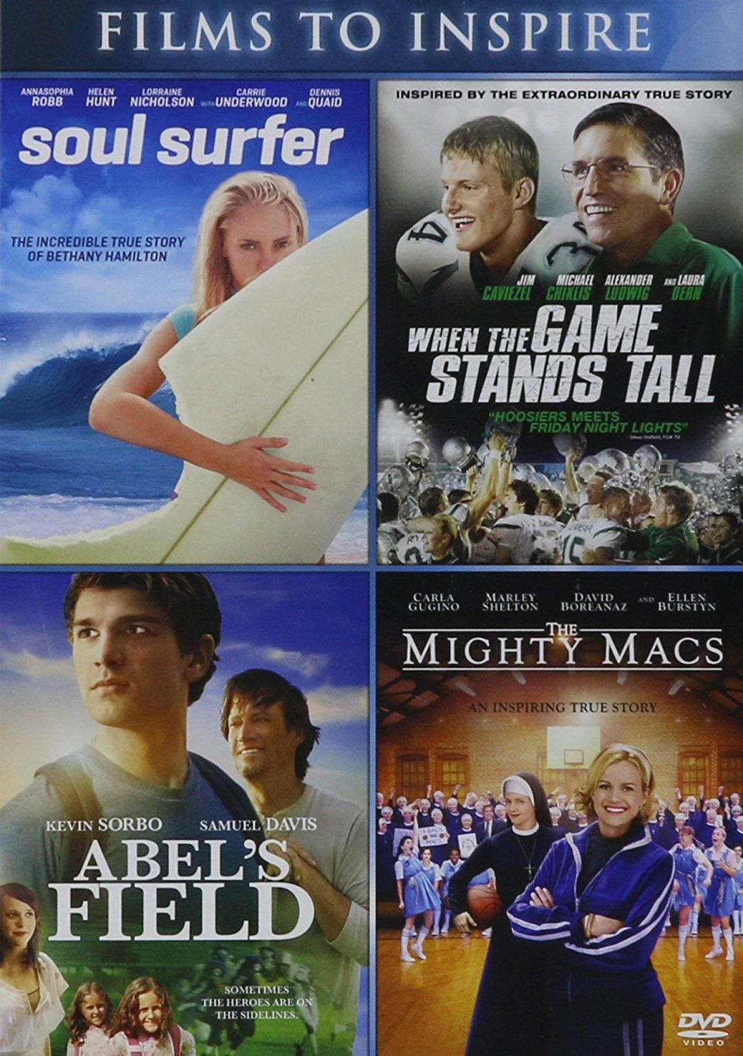 Amazon.com: Abel's Field / Mighty Macs, the - Vol / Soul Surfer / When the Game Stands Tall - Vol - Set: Kevin Sorbo: Movies & TV