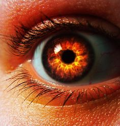 eye orange red fire pupil - Google Search | Tughril Taimat