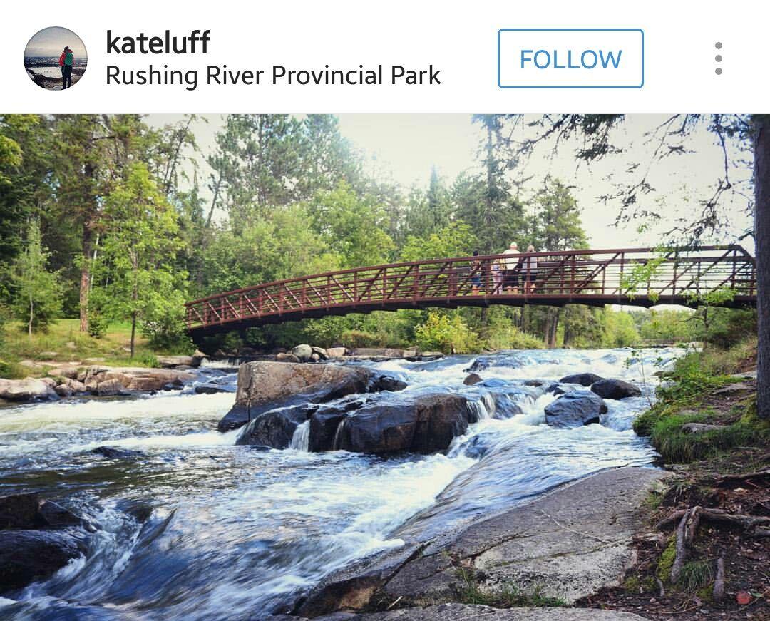 Rushing River Provincial Park Ontario parks, Canada