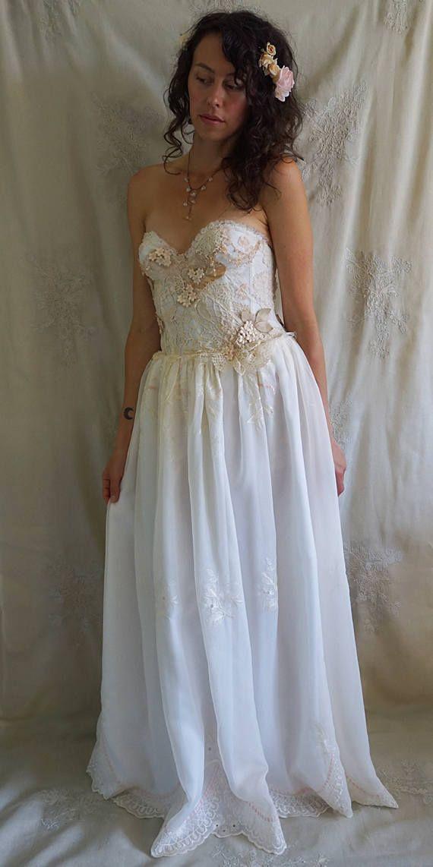 Secret Garden Gown... wedding whimsical woodland boho bohemian ...