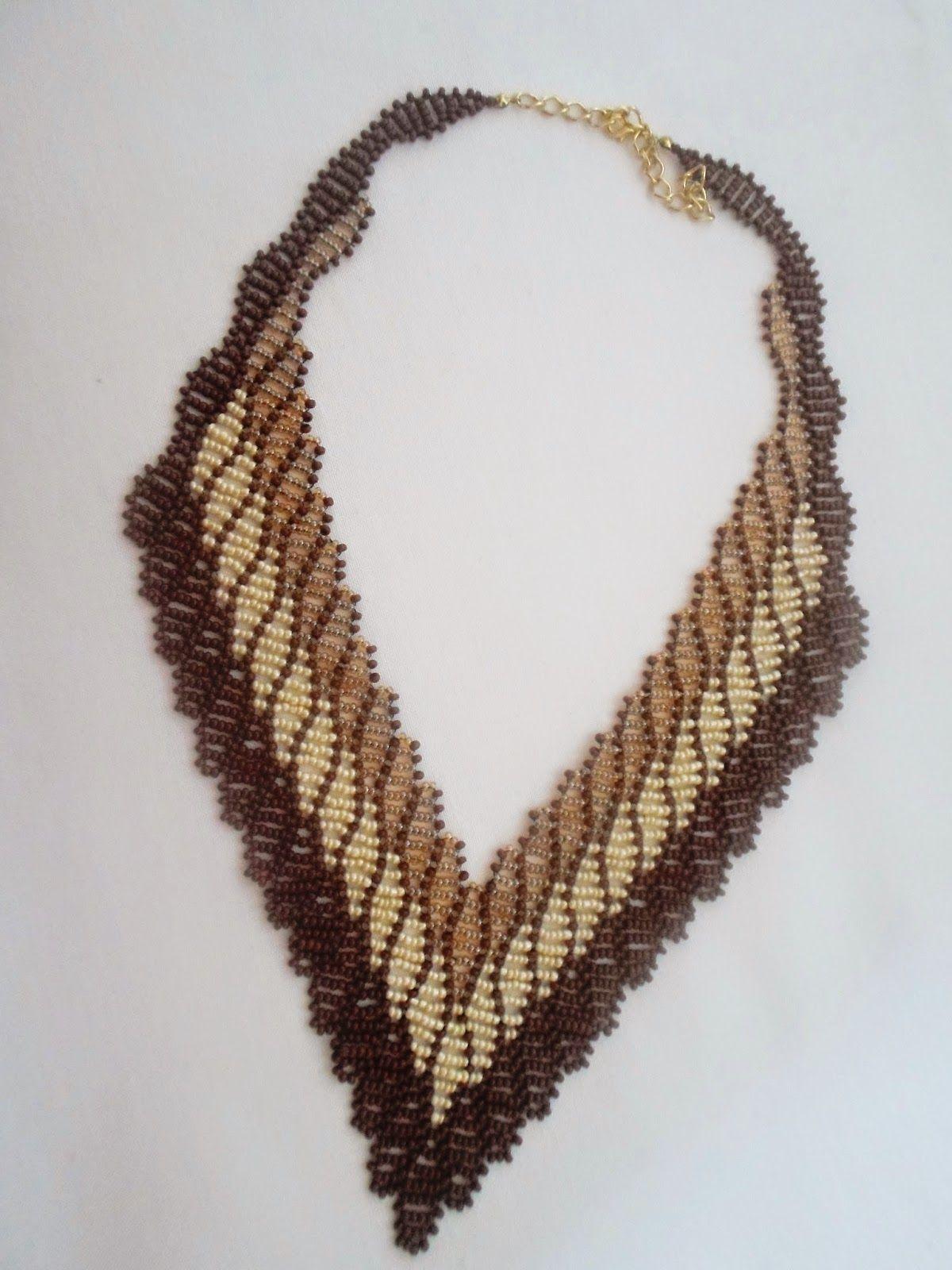 Passo a Passo Maxi colar de miçangas | NM Bijoux Núbia Maia