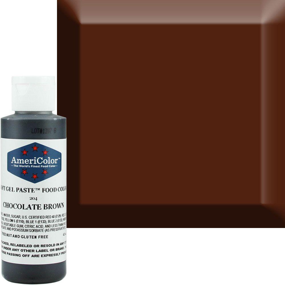 Chocolate Brown AmeriColor® Soft Gel Paste™ Food Color | Baking ...