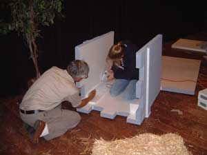 Building a Foam Set | Kingdom Rock 2013 | Diy haunted ...