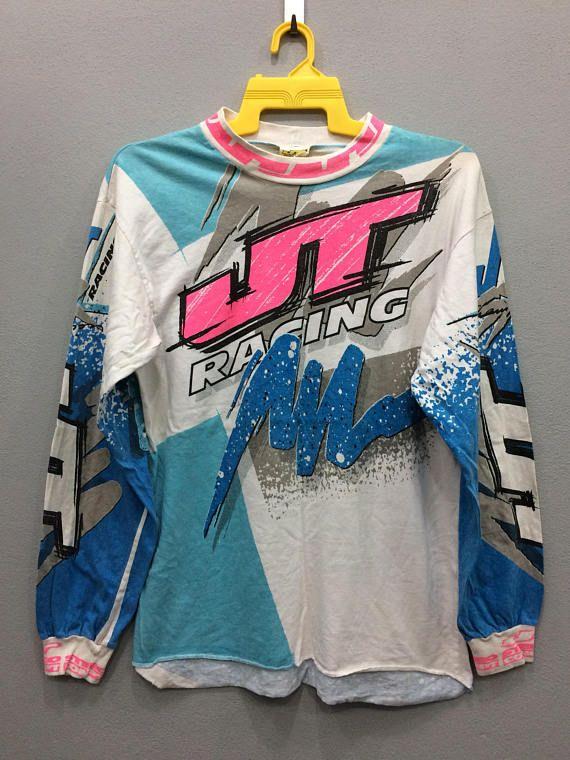 Vintage Jt Racing Tee Tshirt Long Sleeve Motocross Clothing Motocross Clothing Motocross Clothes