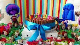 Bolo - Festa de aniversário do Marcos Júnior - 3 anos. Tema Jelly Jam - blog Um lar para Amar, por Carla Nascimento.