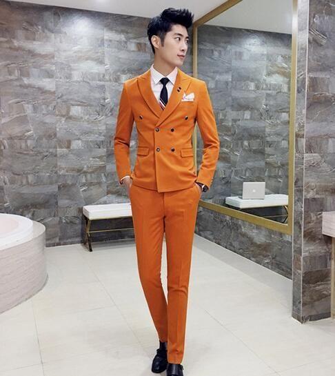 6ebbf6eab Royal Blue Mens Suits Slim Fit Plus Size 4XL Latest Coat Design Double  Breasted Tuxedo Prom Suits 3 Pieces (Jacket+Vest+Pants)