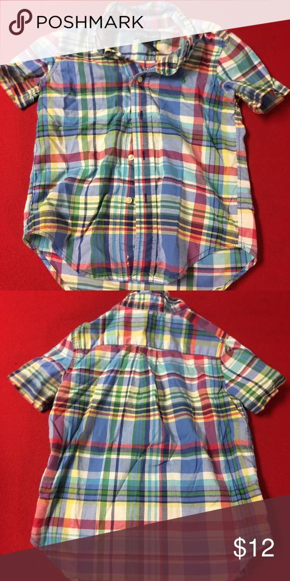 242995aea6b Ralph Lauren Cotton Oxford Multi colored button down Ralph Lauren Shirts    Tops Button Down Shirts