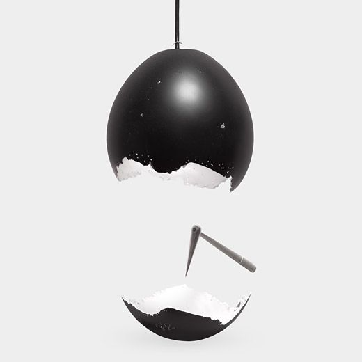 """Lamps For Less: The """"Less"""" Lamp. Comes As A Solid Black """"egg"""" With The"""