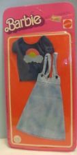 Old Mattel 1975 Barbie Doll Outfit in Pkg - Best Buy Fashions Denim & Rainbow
