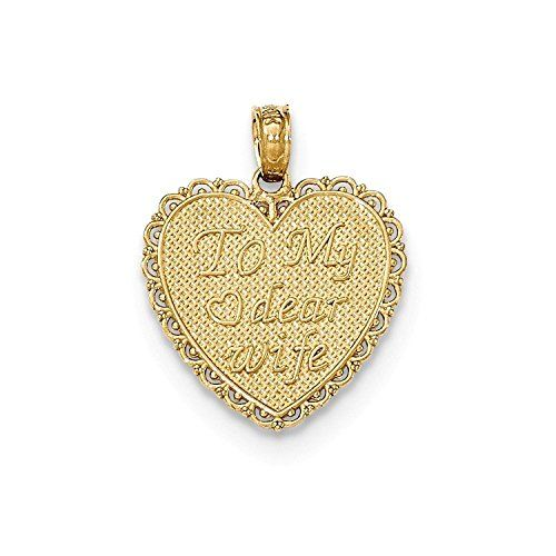 Cards Charm Pendant 21.5mmx13.5mm 14k Yellow Gold Ace of Spade All In