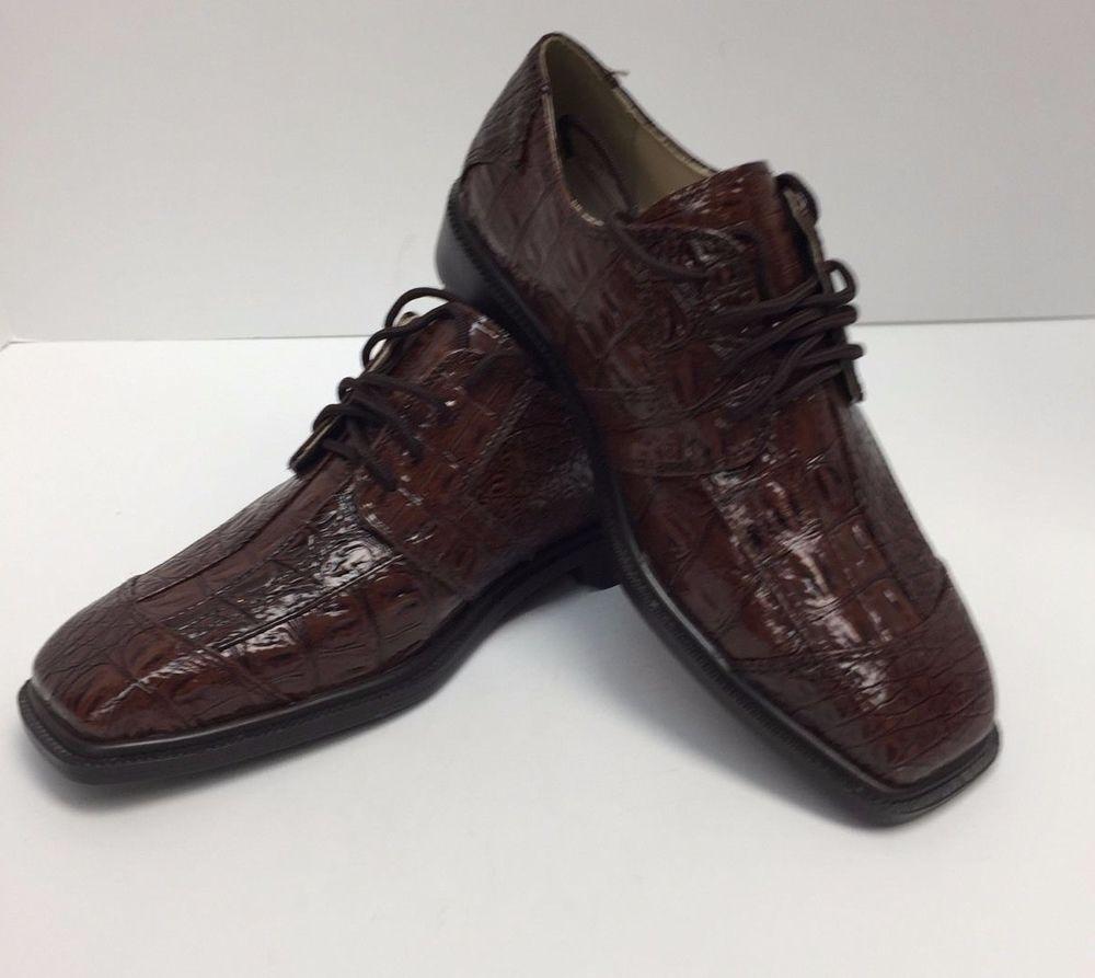 Boys brown dress shoes size 35 hugo vitelli pu uppers man