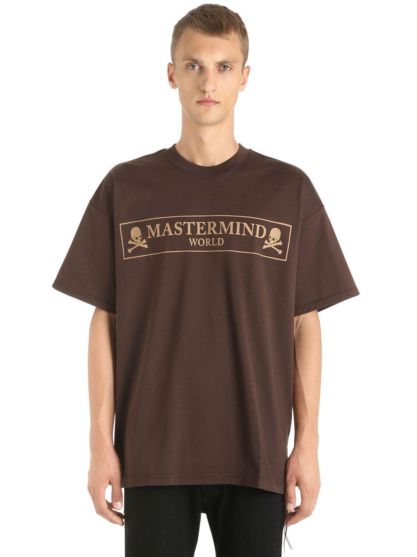 848bda6811e MASTERMIND WORLD OVERSIZED SKULL BOX PRINT JERSEY T-SHIRT.  mastermindworld   cloth