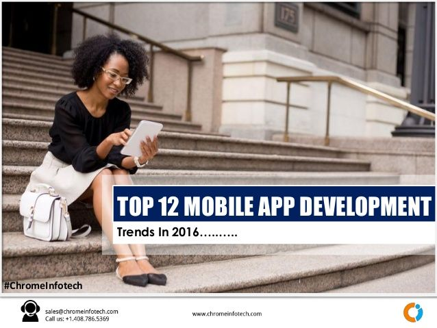 Trends In 2016…..….. #ChromeInfotech TOP 12 MOBILE APP DEVELOPMENT