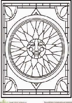 Stained Glass Window Printable Coloring Pages Stained Glass