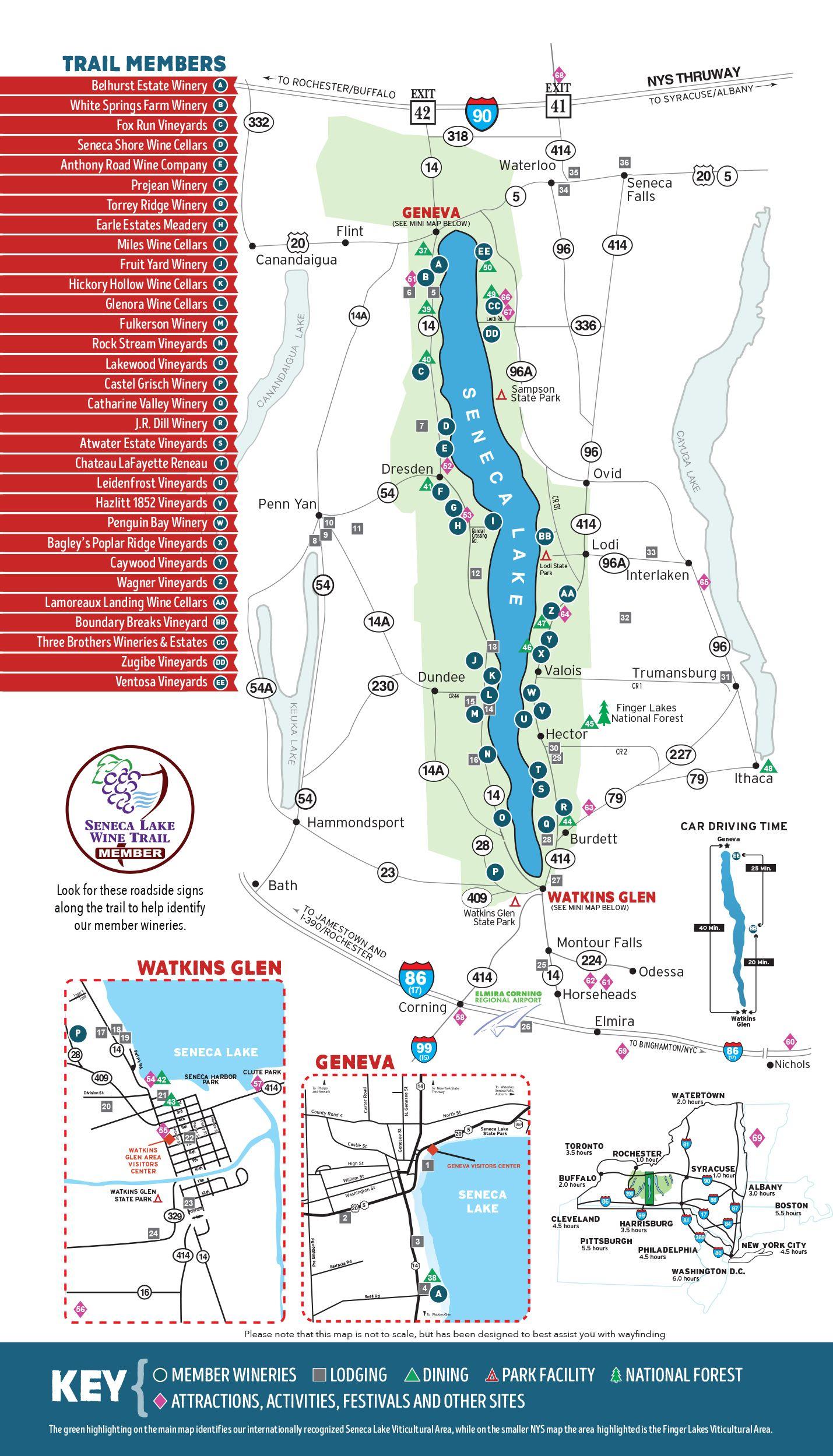 finger lakes wine tour map Explore All Listings Listable Wine Trail Seneca Lake Finger finger lakes wine tour map