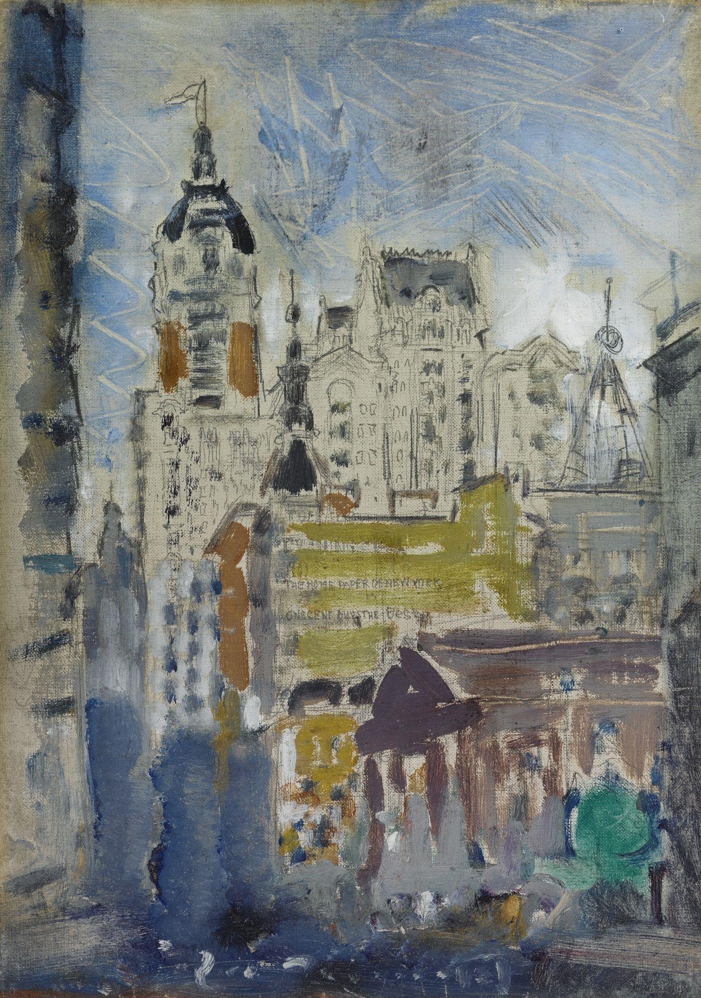 John Marin 1872 - 1953 DOWNTOWN NEW YORK (SINGER BUILDING)