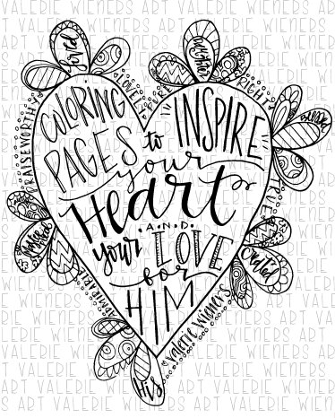 Title Coloring Page For Girls Coloring Book Instant Printable Coloring Books Bible Coloring Pages Bible Art Journaling