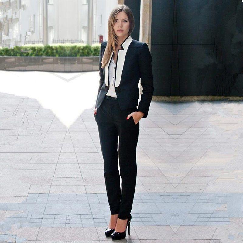 7abc0edd0a2a1 Find More Pant Suits Information about Black Womens Business Suits ...