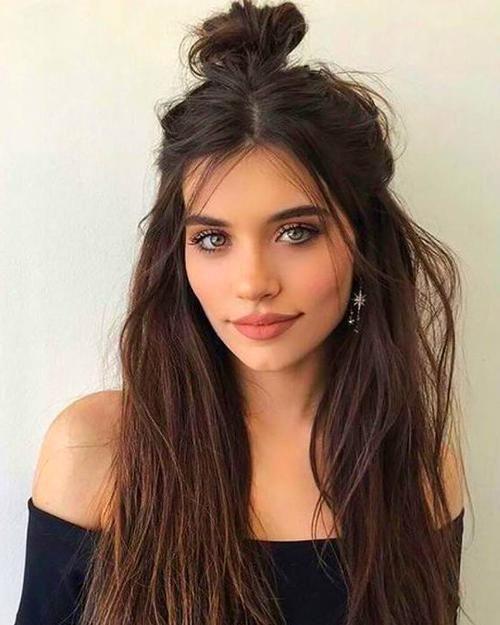Christmas Eyeshadow Looks Easy Hairstyles For Long Hair Half Bun Hairstyles Messy Bun Hairstyles