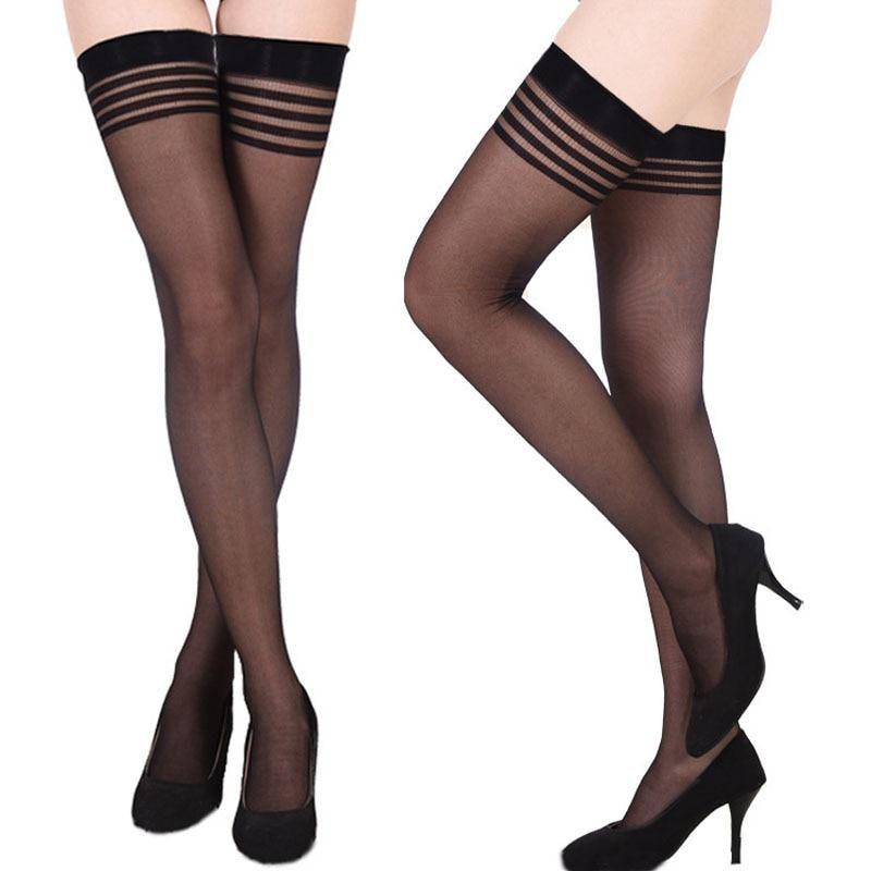 85ace000950 Sexy stockings medias compression nylon long thigh high stockings thin  women summer lolita silk stockings. Yesterday s price  US  0.93 (0.83 EUR).