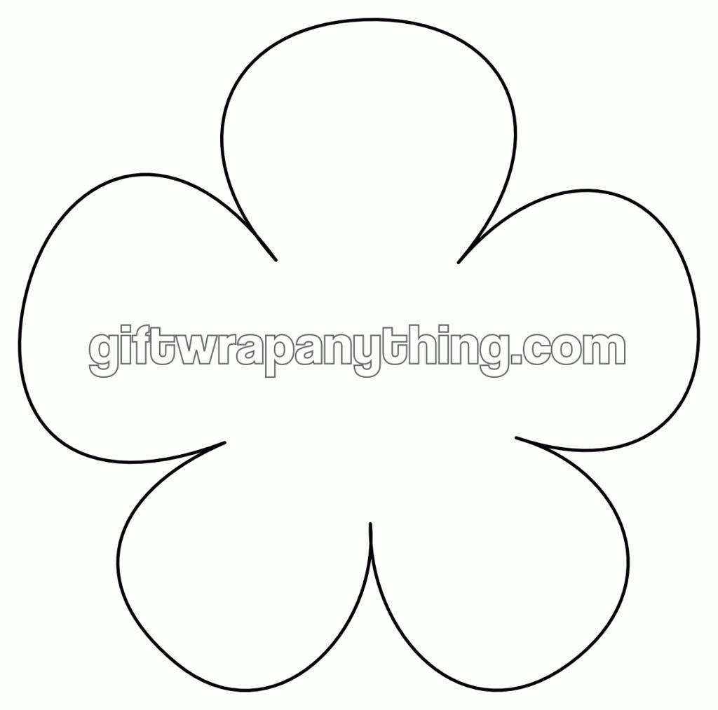 Printable Flower Outline