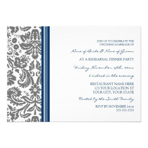 This DealsBlue Grey Damask Rehearsal Dinner Party Personalized InvitesYes I can say you are on right site we just collected best shopping store that have