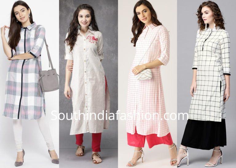5 Stylish Office Wear Kurtis Formal Work Wear Kurti Designs In 2020 Indian Formal Wear Stylish Formal Simple Kurti Designs