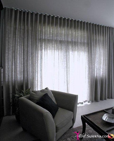 Una selezione di idee fotografiche per l'arredamento del soggiorno in stile moderno. Minimalist Home Curtains Tende Contemporanee Disegni Della Tenda Soggiorno Moderno
