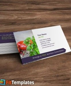 Nutrititionists business card template on fittemplates nutrititionists business card template on fittemplates reheart Gallery